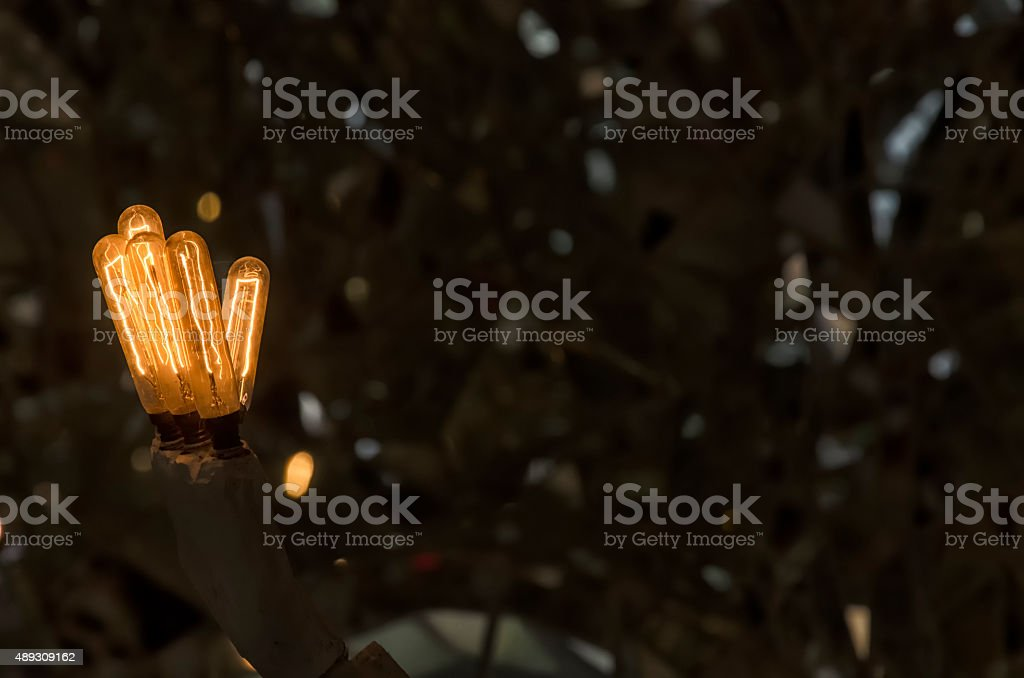 Chandelier with the shape of a robot stock photo
