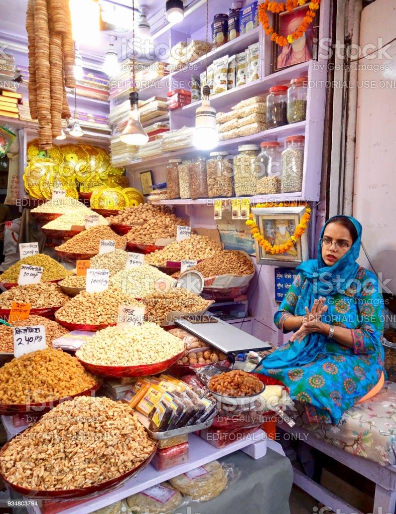 Chandni Chowk, 올드 델리 - 로열티 프리 거리 스톡 사진