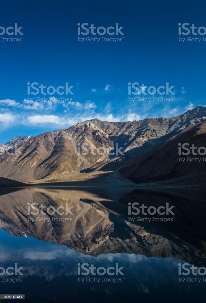 chandrataal lake stock photo