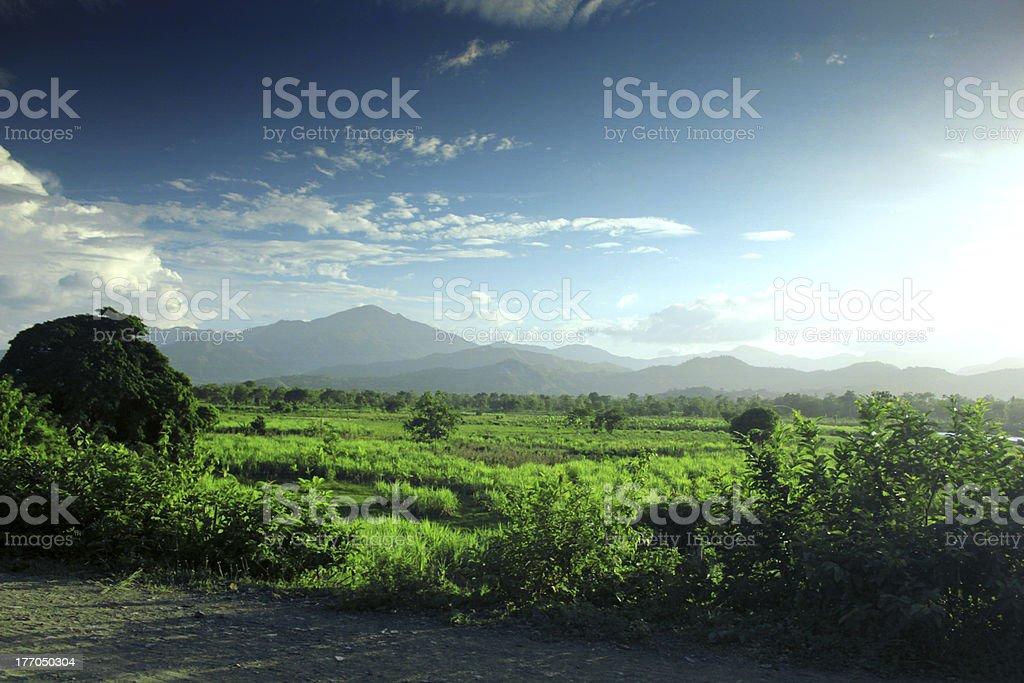 Chaîne de montagne en Haïti stock photo