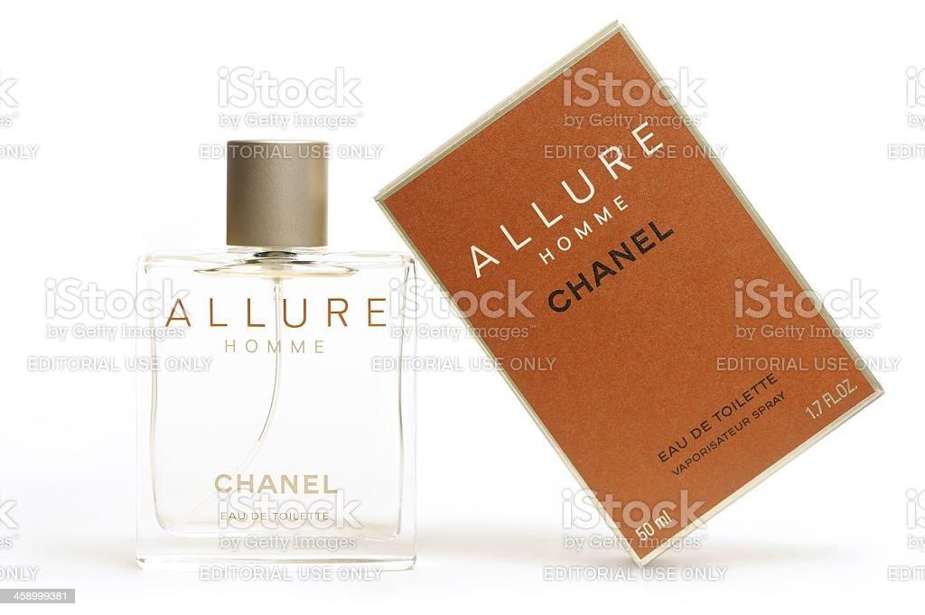 Chanel Allure Homme Eau de Toilette royalty-free stock photo