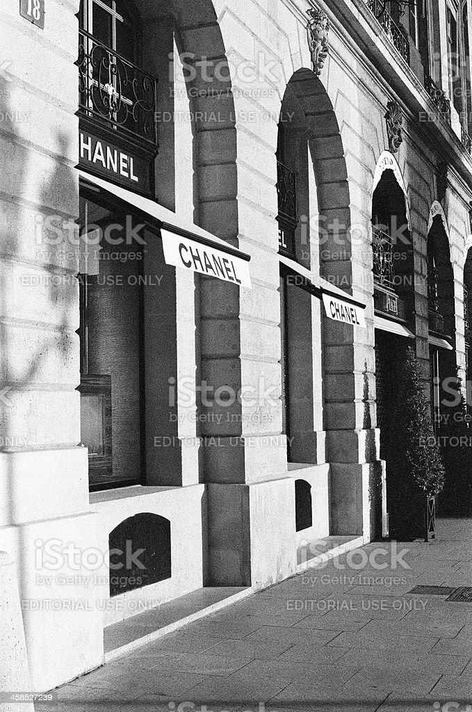Chanel boutique building facade royalty-free stock photo