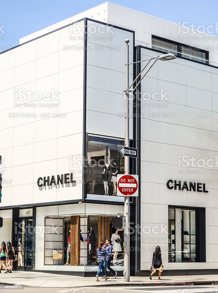 Chanel Store on Rodeo Drive, Beverly Hills, USA royalty-free stock photo