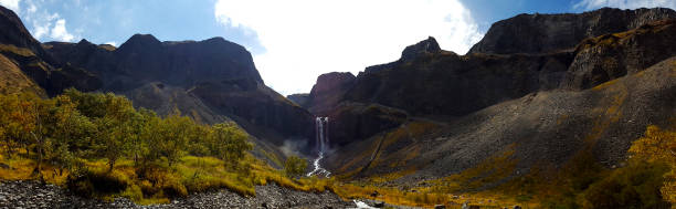Changbai Heavenly Lake Waterfall stock photo