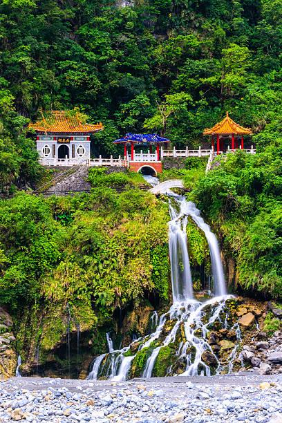Changchun temple at Taroko National Park in Hualien stock photo