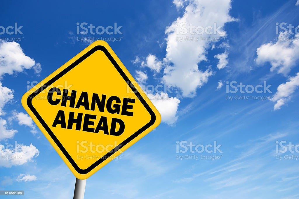 Change ahead sign stock photo