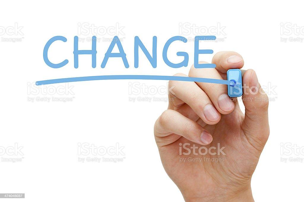 Change Blue Marker royalty-free stock photo