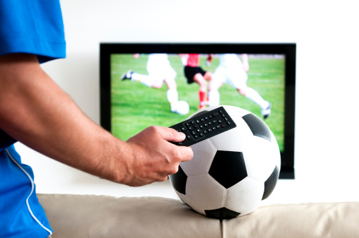 Change Channel To Watch Soccer On Tv Stock Photo - Download Image Now -  iStock