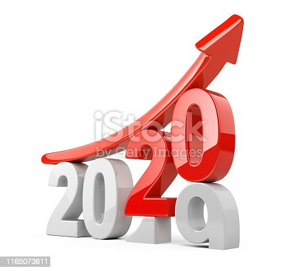 istock 2019 2020 change concept with red arrow UP. 1165073611
