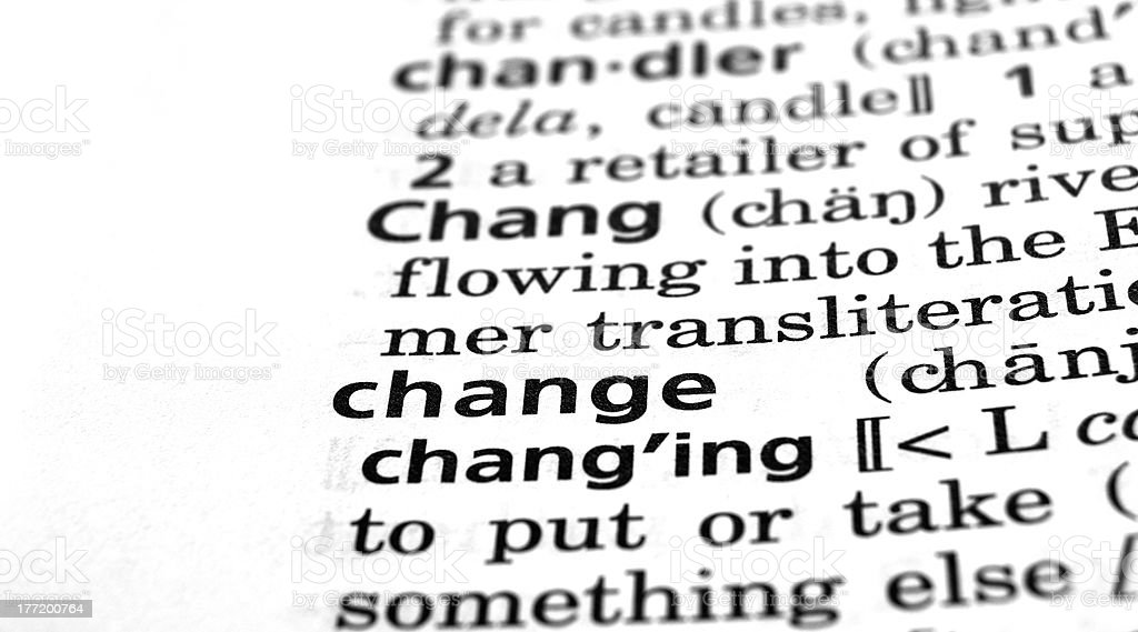 Change Defined royalty-free stock photo