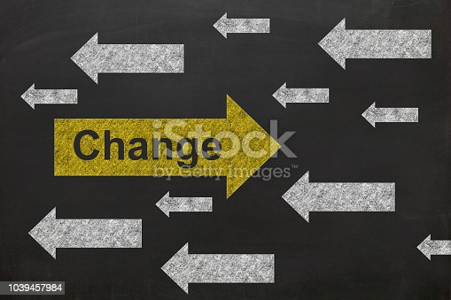 istock Change different idea blackboard drawing 1039457984