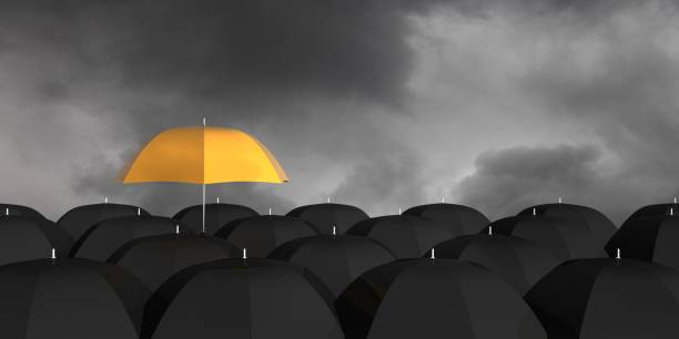 Change different umbrella problem solution concept Change different umbrella problem solution concept crisis stock pictures, royalty-free photos & images