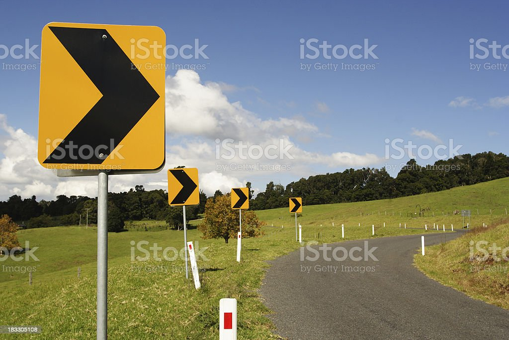 change direction royalty-free stock photo