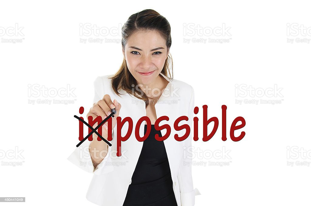 Change impossible to possible royalty-free stock photo