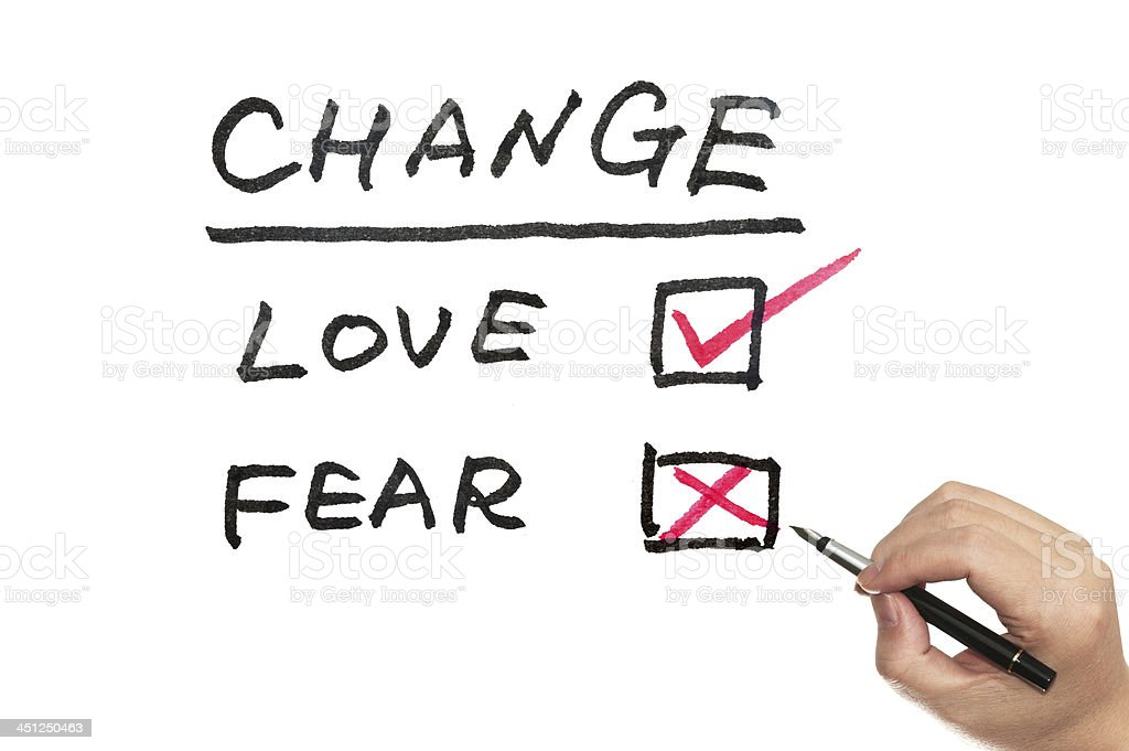 Change, love or fear stock photo