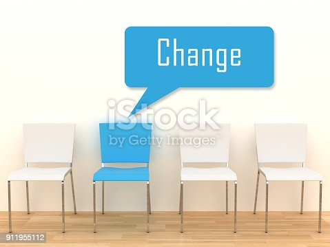 istock Change message office chair different concept 911955112