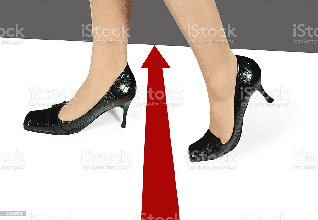 Change of direction for new opportunities stock photo