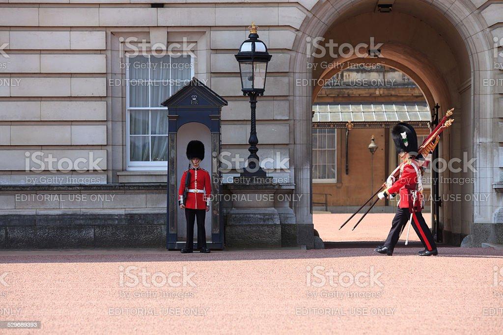 Change of guards at Buckingham Palace stock photo