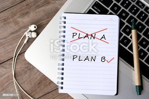 istock Change of Plan A to Plan B 869096122