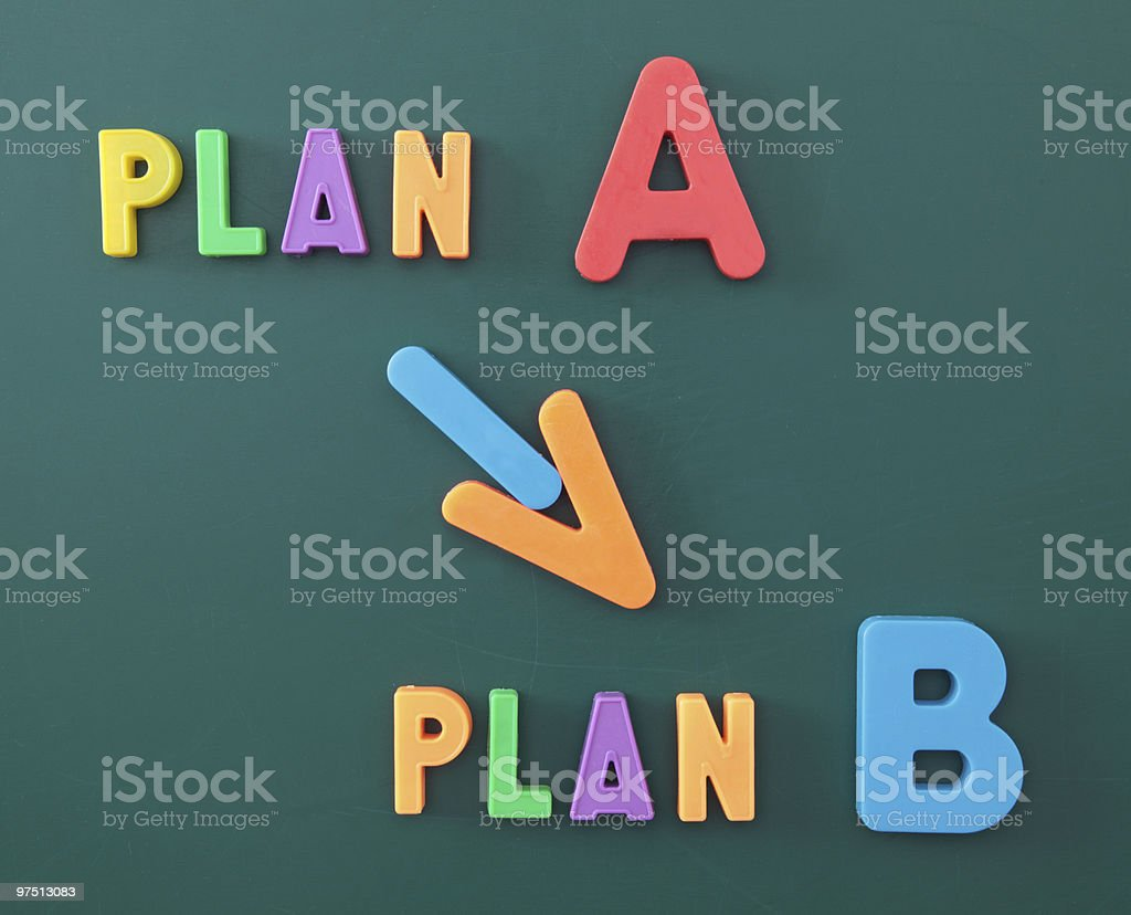 Change of plan royalty-free stock photo