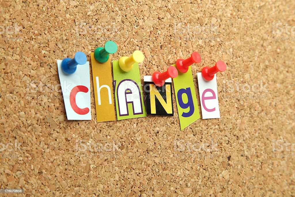 Change royalty-free stock photo