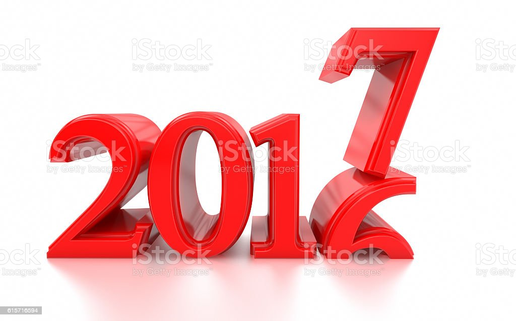 2016-2017 change represents the new year 2017 stock photo