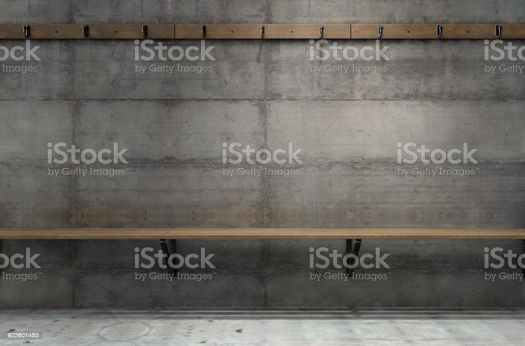 Cambio habitación suspensiones y Banco - foto de stock