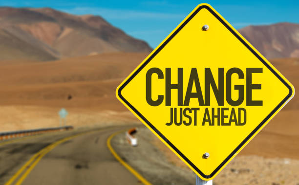 change sign - change stock photos and pictures