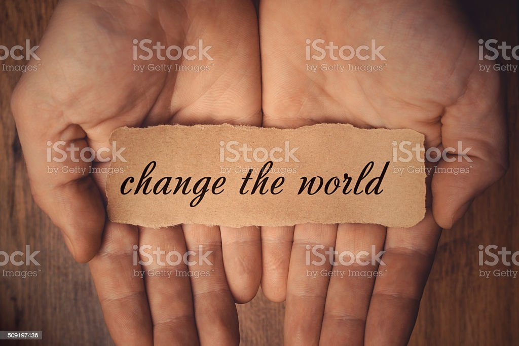 Change the World stock photo