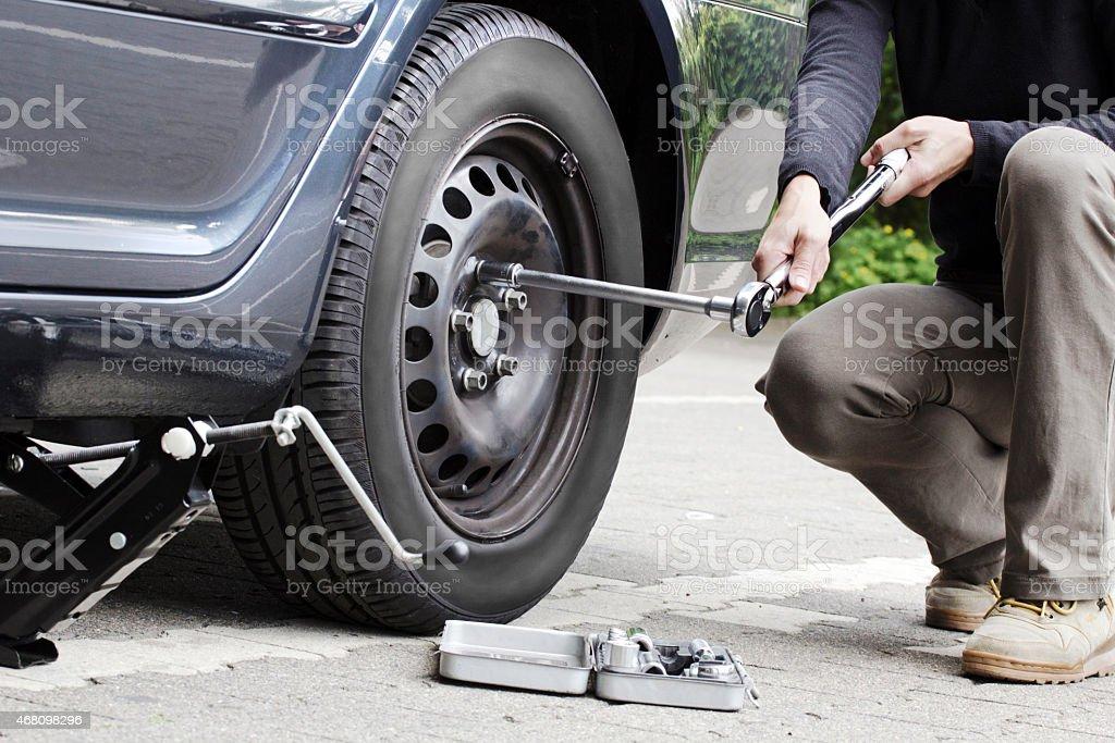 Ändern Reifen – Foto