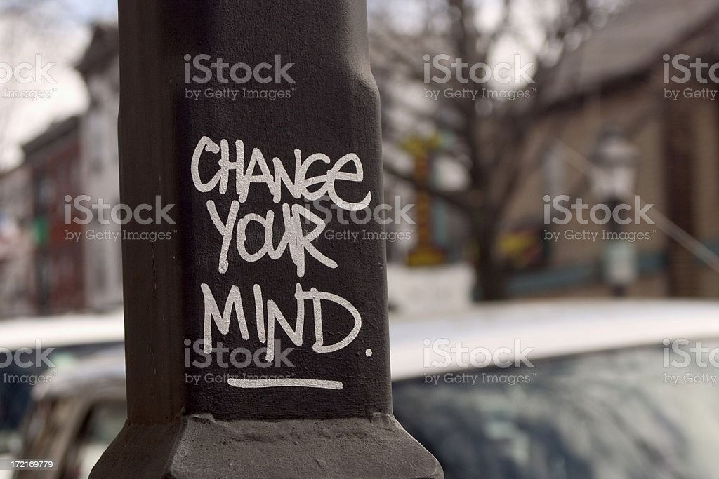 Change Your Mind royalty-free stock photo