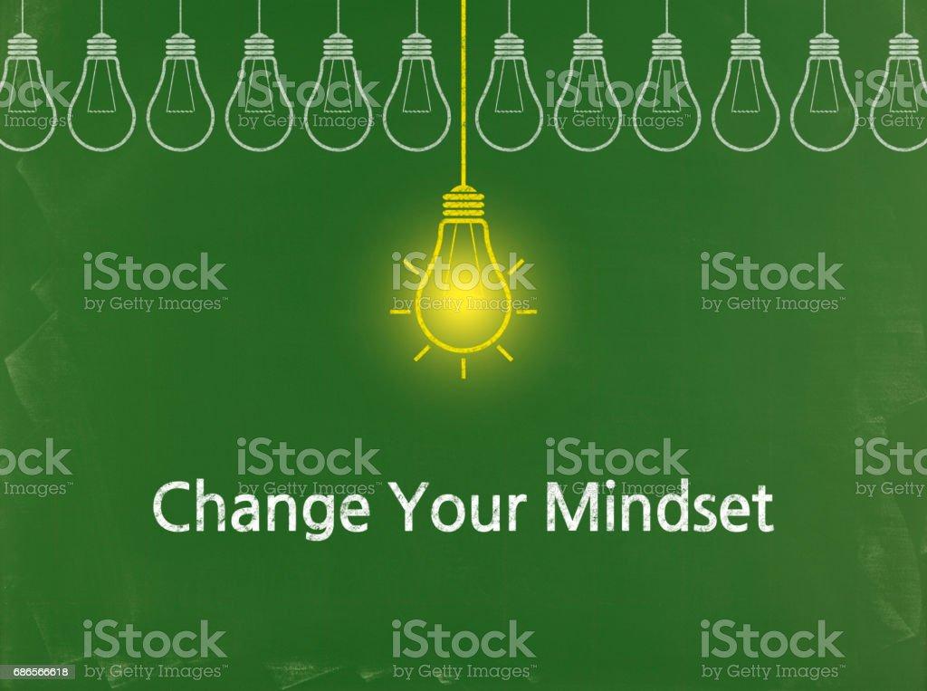 Change Your Mindset - Business Chalkboard Background royalty-free stock photo