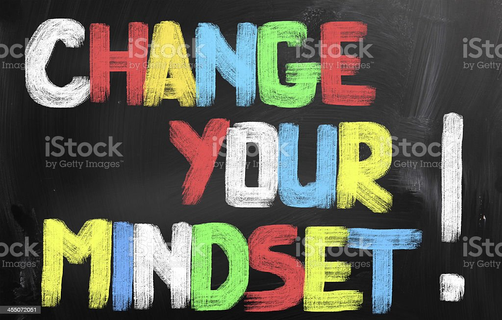 Change Your Mindset Concept royalty-free stock photo