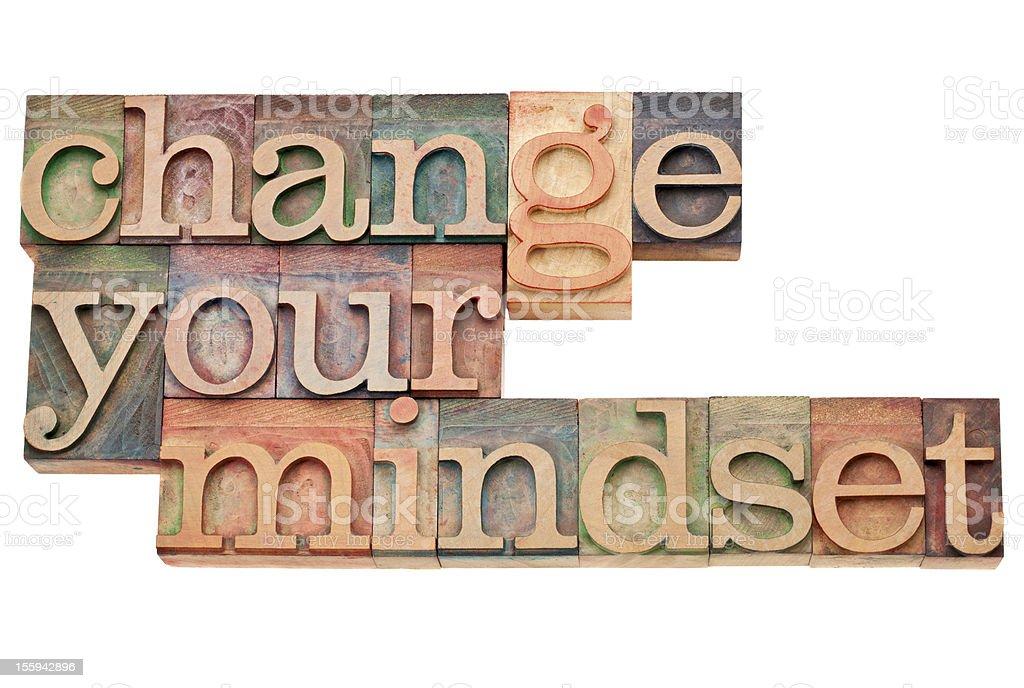 Change your mindset royalty-free stock photo