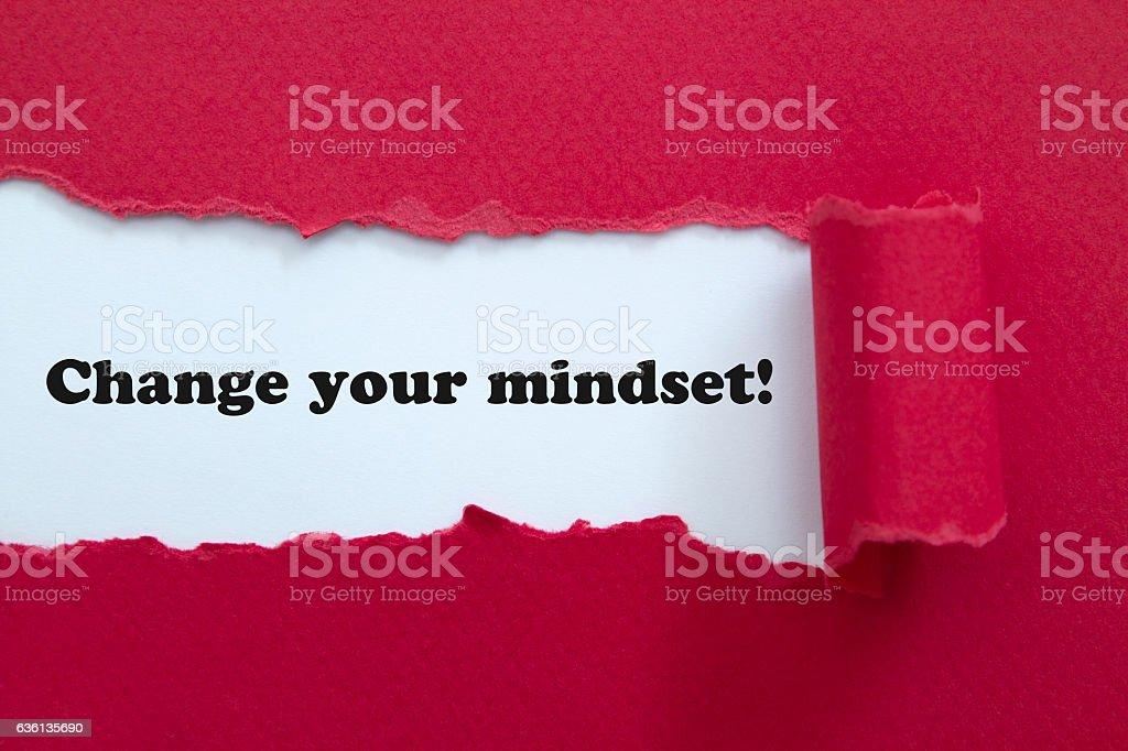 Change your mindset. stock photo