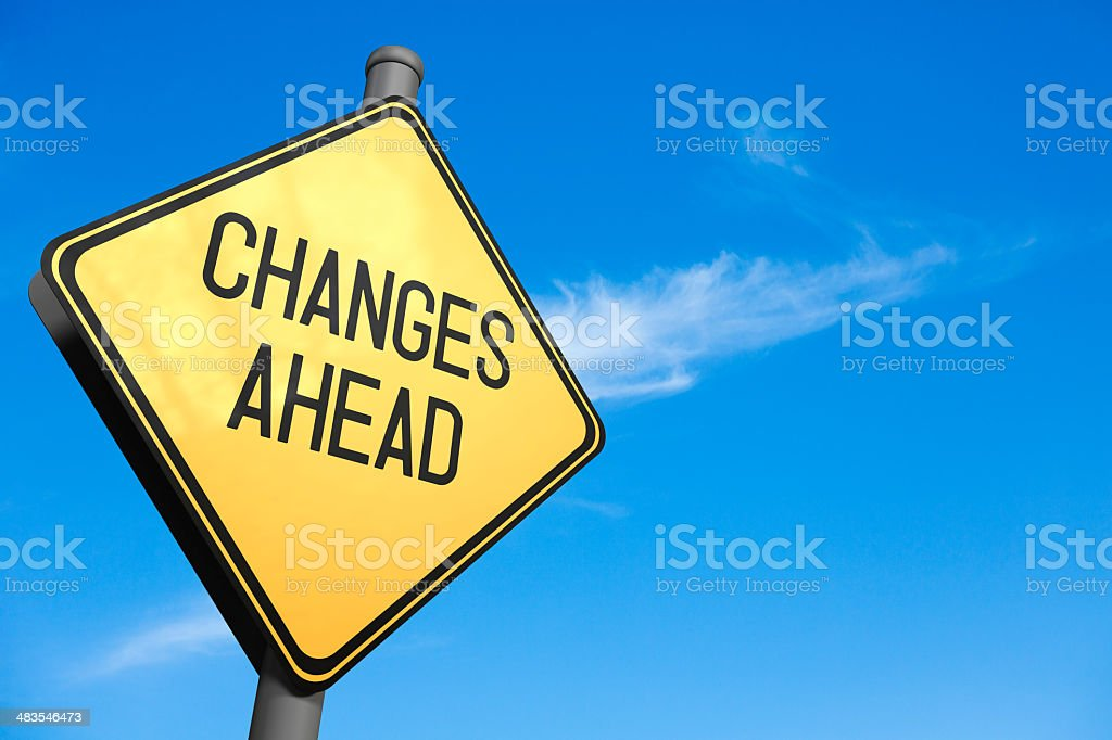 Changes Ahead - Road Sign stock photo