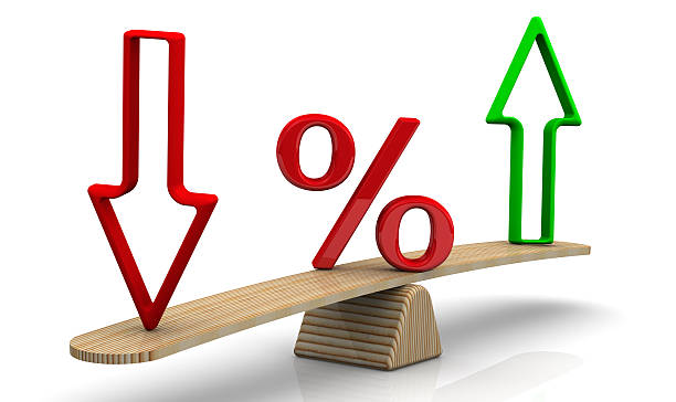 Changes in interest rates. Concept stock photo