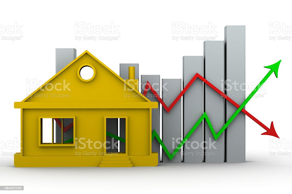 Changes in property prices. Concept stock photo