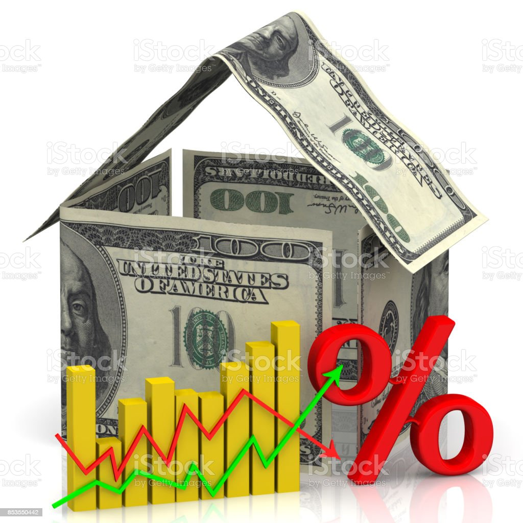 Changes in real estate prices stock photo