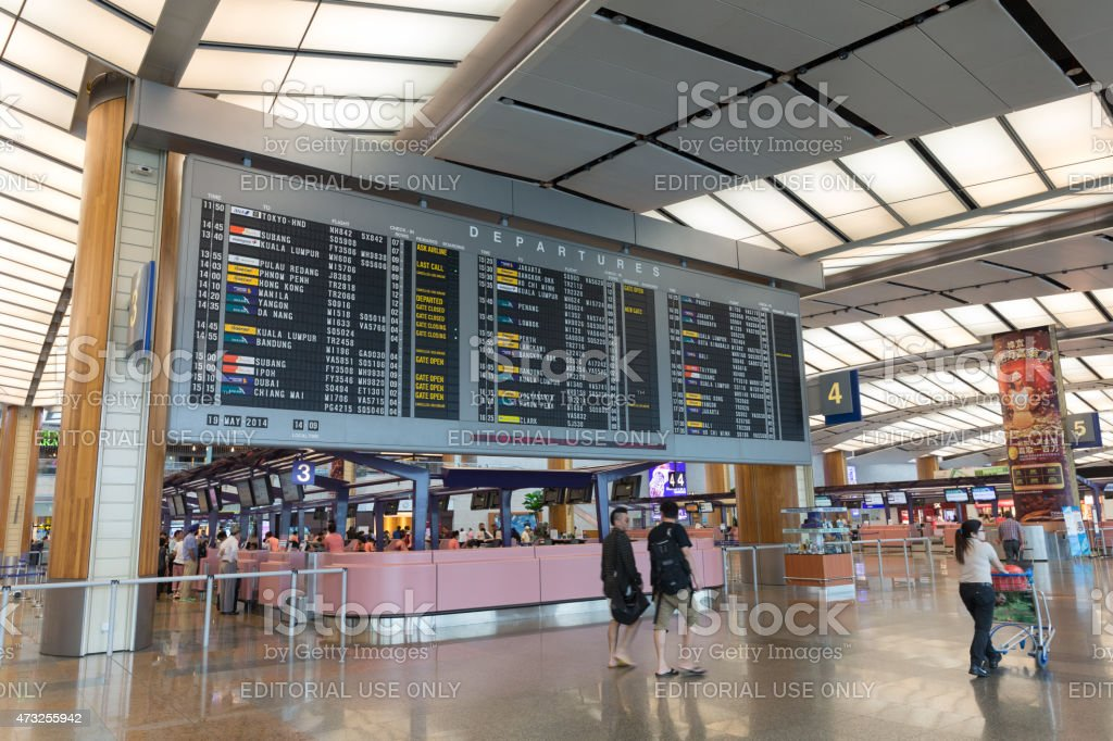 Changi Airport in Singapore stock photo