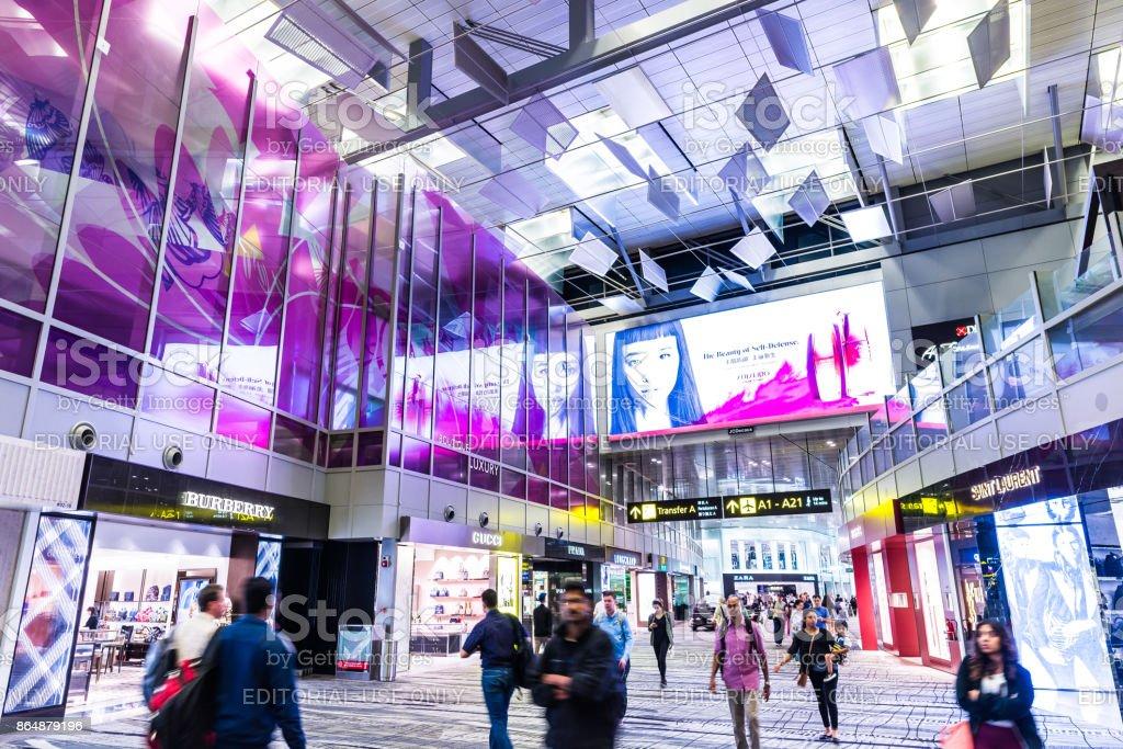 Changi Airport in Singapore stock photo