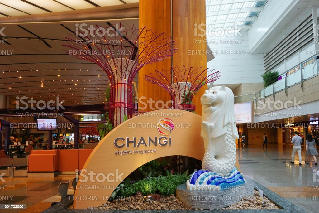 Changi Airport of Singapore stock photo