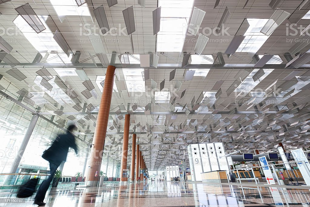 Changi Airport, Terminal 3, Singapore. stock photo