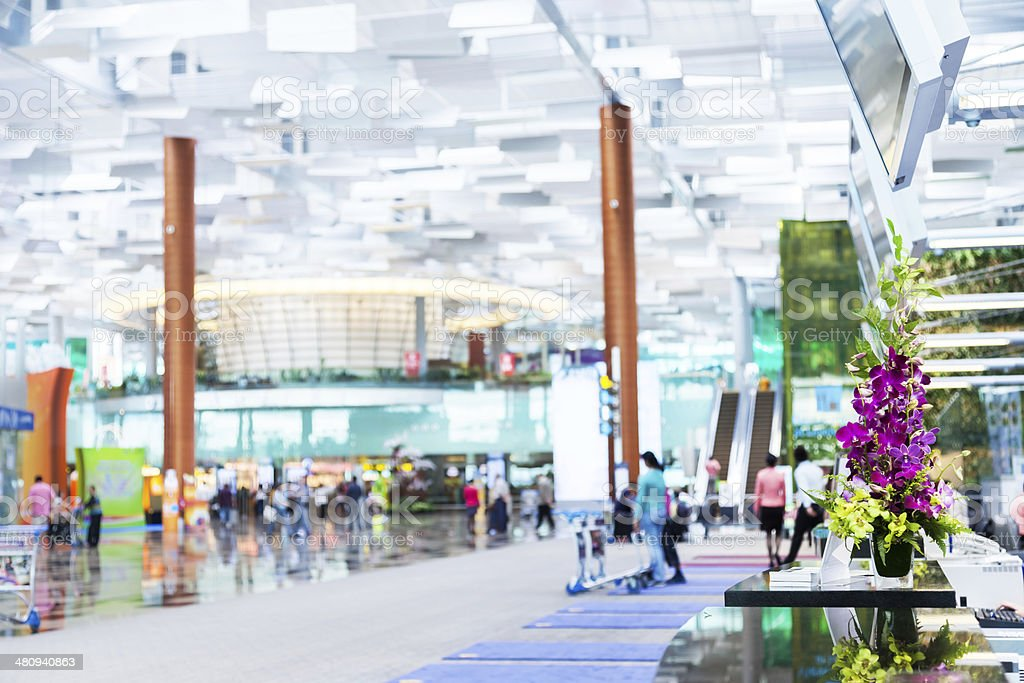 Changi Airport, Terminal 3, Singapore stock photo
