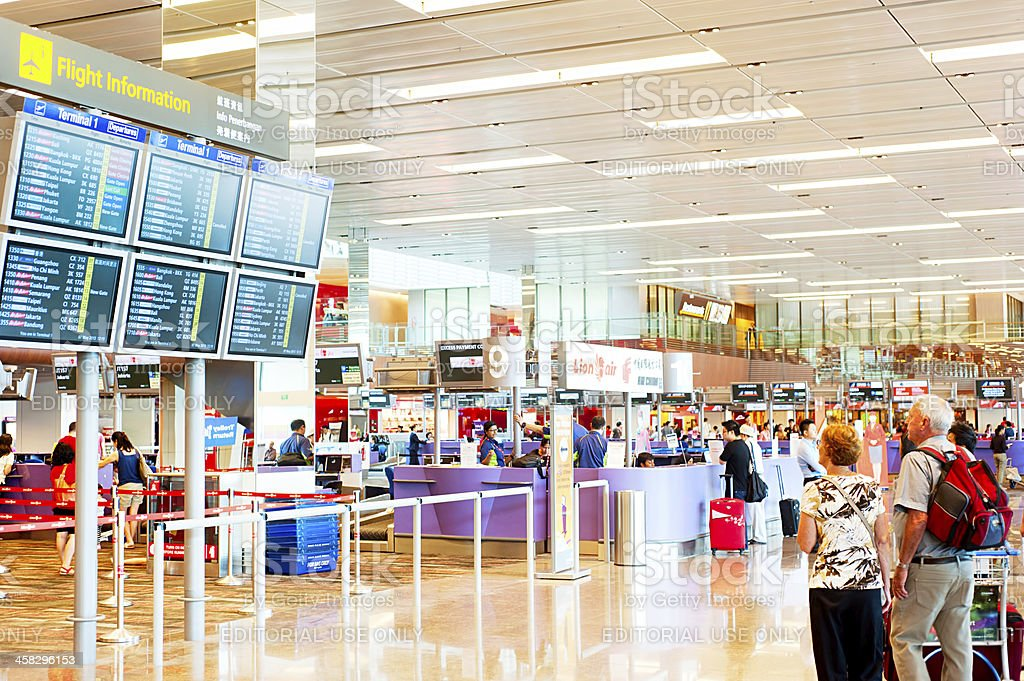 Changi International Airport royalty-free stock photo