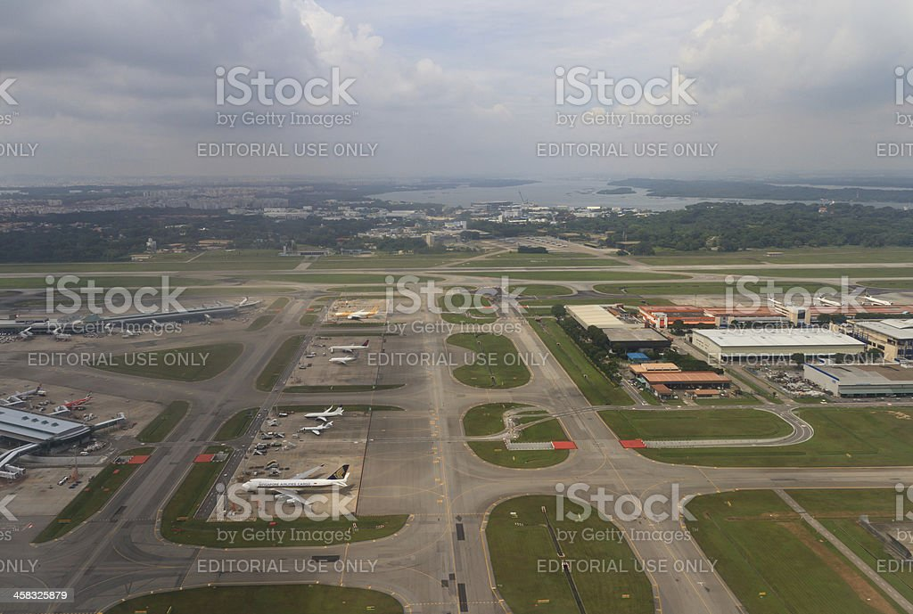 Changi International Airport stock photo
