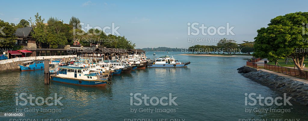 Changi Point Ferry Terminal - Gateway to Pulau Ubin stock photo