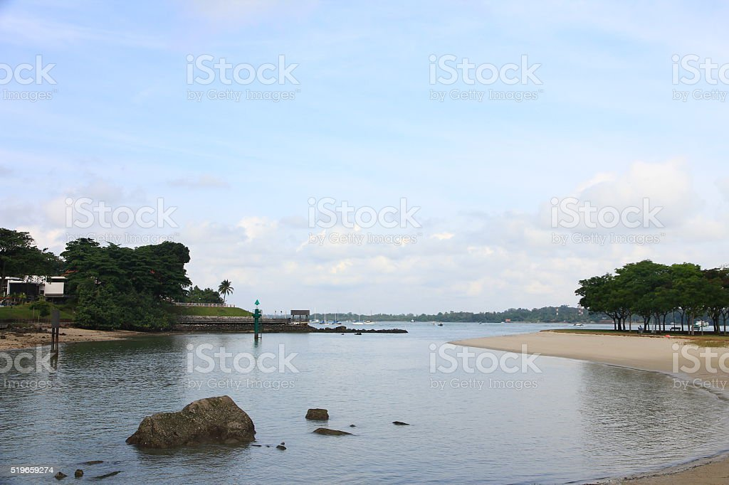 Changi Village, Singapore stock photo