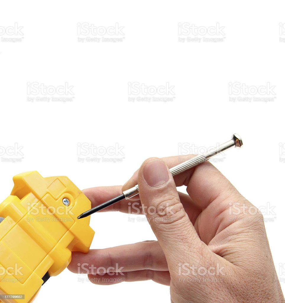 changing batteries royalty-free stock photo