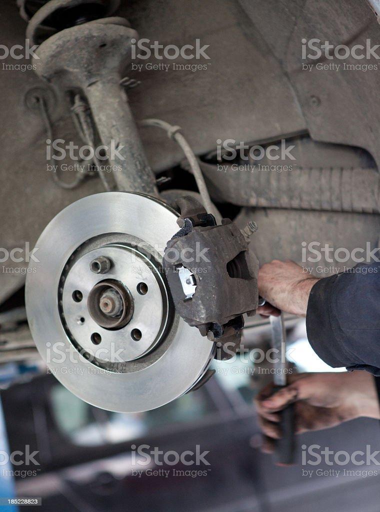 Changing Car Brakes stock photo